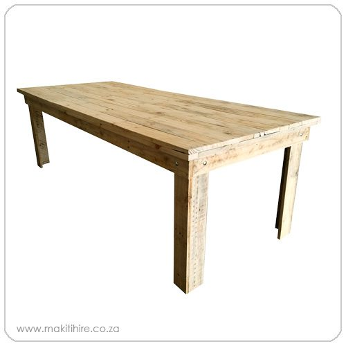 rustic pallet wood banquet table
