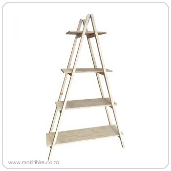 Wooden A-Frame Ladder Shelf